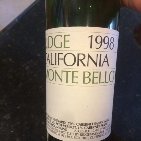 Ridge Vineyards Monte Bello Vineyard Cabernet Sauvignon Blend 2013 (1500ml)