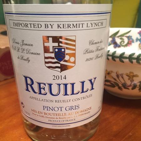 Denis Jamain (Domaine de Reuilly) Reuilly Pinot Gris 2015