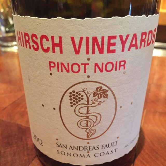 San Andreas Fault Pinot Noir 2012
