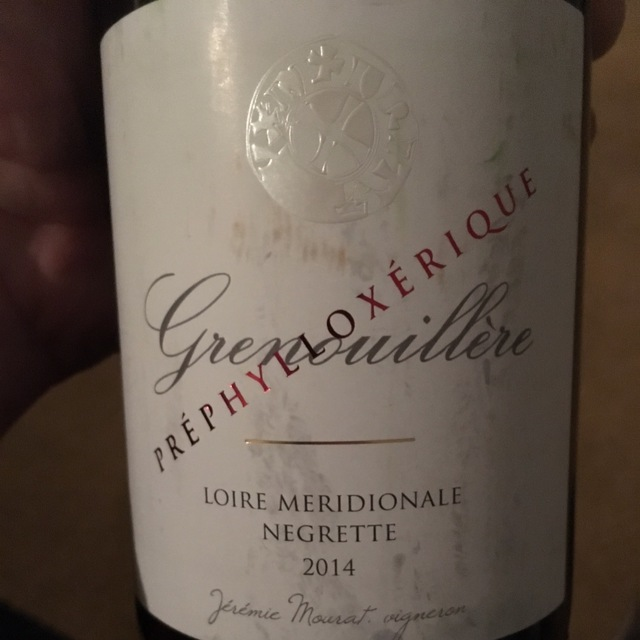 Grenouillère Préphylloxérique Loire Meridionale Negrette 2014