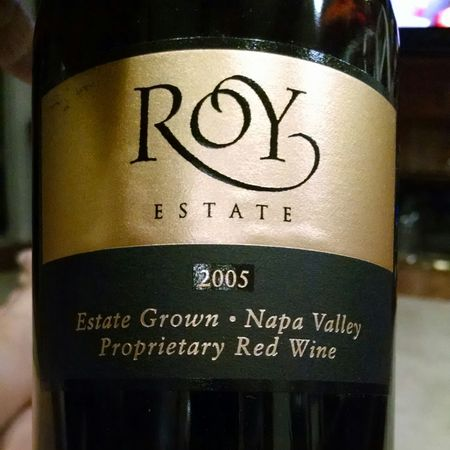 Roy Estate Napa Valley Proprietary Cabernet Sauvignon Blend 2013