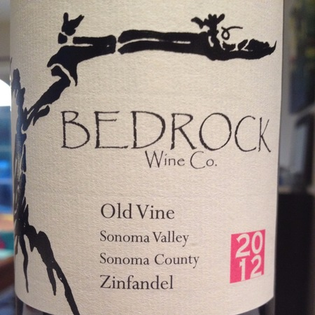 Bedrock Wine Co. Old Vine Sonoma Valley Zinfandel 2015