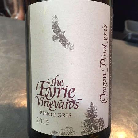 The Eyrie Vineyards  Dundee Hills Pinot Gris 2015