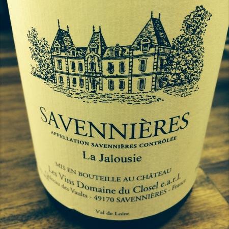 Domaine du Closel-Château des Vaults La Jalousie Savennières Chenin Blanc 2014