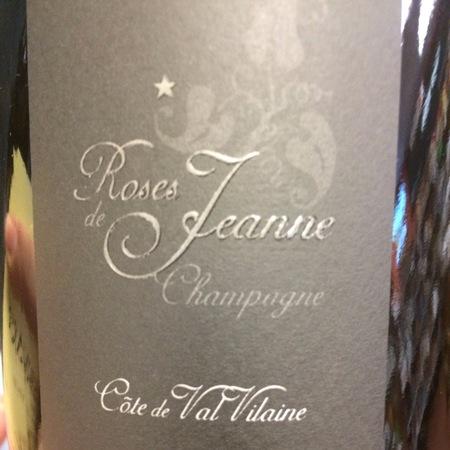 Cédric Bouchard Roses de Jeanne Côte de Val Vilaine Brut Blanc de Noirs Champagne Pinot Noir NV