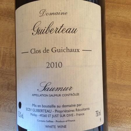 Domaine Guiberteau Clos de Guichaux Saumur Chenin Blanc 2010
