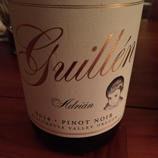 Adrián Willamette Valley Pinot Noir 2014