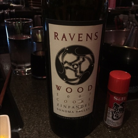 Ravenswood Winery Cooke Vineyard Zinfandel 2007