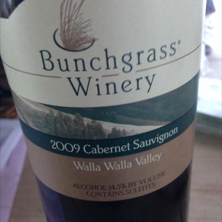 Bunchgrass Winery Walla Walla Valley Cabernet Sauvignon 1998