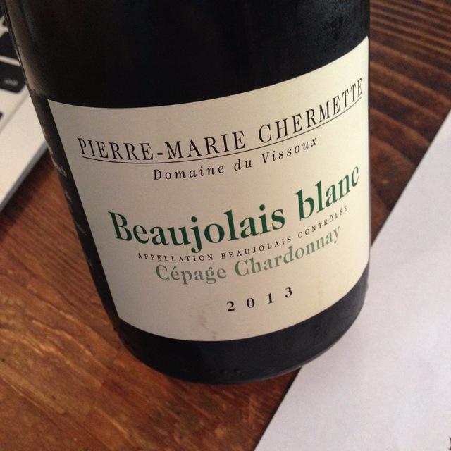 Beaujolais Blanc Cépage Chardonnay 2013