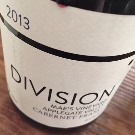 Division Winemaking Company Mae's Vineyard Cabernet Franc 2015