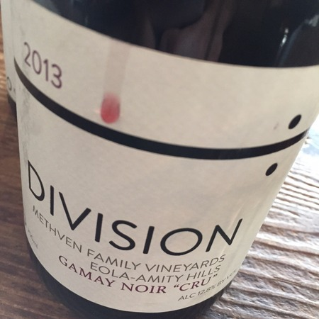 Division Winemaking Company Methven Family Vineyards Cru Gamay Noir NV