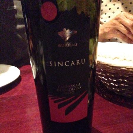 Vigne Surrau Sincaru Cannonau di Sardegna  2014
