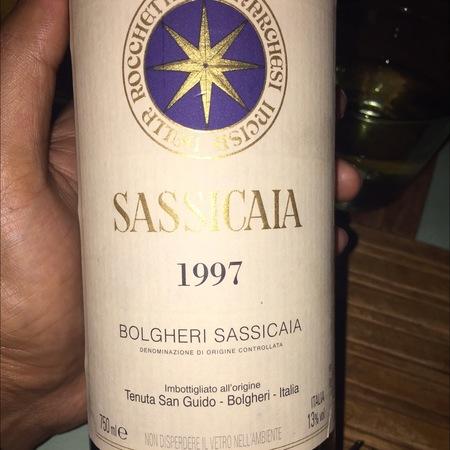 Tenuta San Guido Bolgheri Sassicaia Cabernet Sauvignon Cabernet Franc 1997