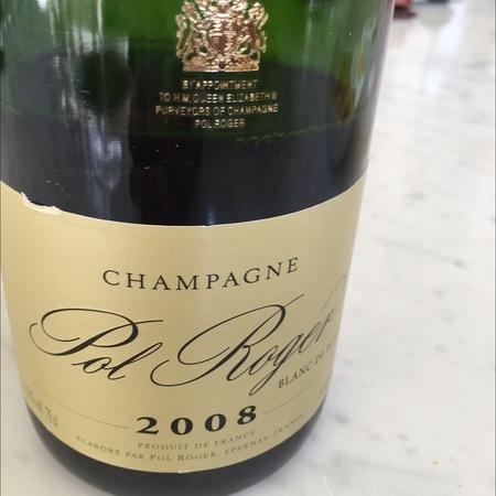 Pol Roger Brut Blanc De Blancs Champagne Chardonnay 2008