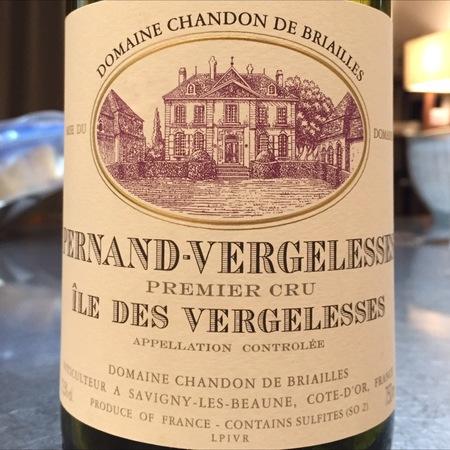 Domaine Chandon de Briailles Ile des Vergelesses Blanc Pernand-Vergelesses 1er Cru Chardonnay 2014