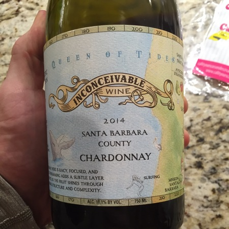 Inconceivable Wine Queen of Tides Santa Maria Valley Chardonnay 2014