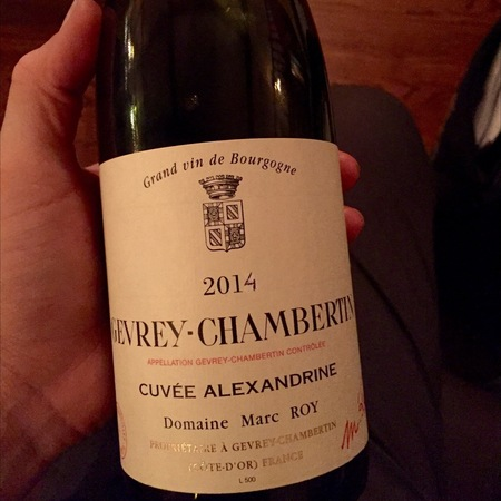 Domaine Marc Roy Cuvée Alexandrine Gevrey-Chambertin Pinot Noir 2014