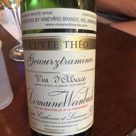 Domaine Weinbach Cuvée Théo Alsace AOC Gewürztraminer 2015
