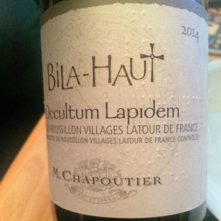 Michel Chapoutier Domaine de Bila-Haut Occultum Lapidem Côtes du Roussillon Villages Latour Syrah Blend 2014