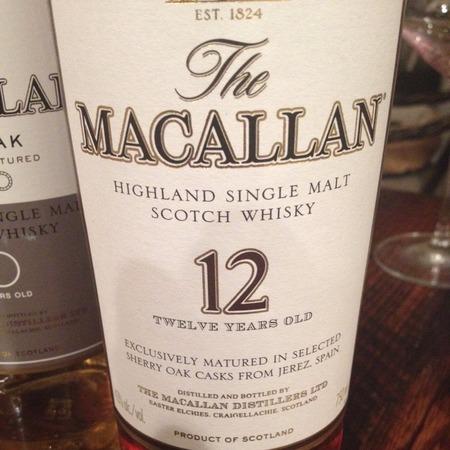 Macallan Distillery 18 Year Old Sherry Oak Cask Single Malt Scotch