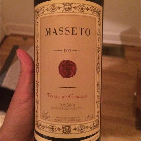 Tenuta dell'Ornellaia Masseto Toscana Merlot 1999