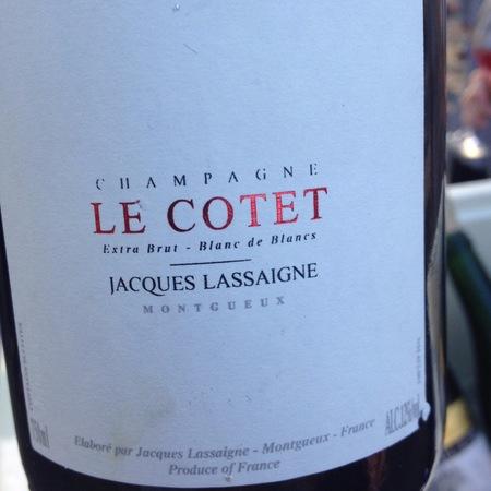 Jacques Lassaigne Le Cotet Extra Brut Blanc de Blancs Champagne NV