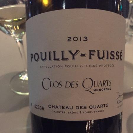 Chateau des Quarts (Dominique Lafon & Olivier Merlin) Clos des Quarts Monopole Pouilly-Fuissé Chardonnay 2013