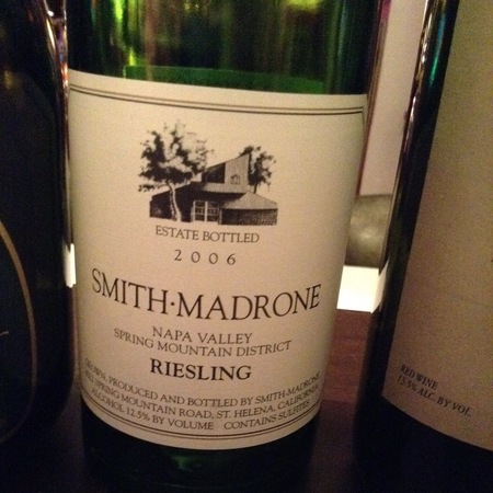 Smith Madrone Spring Mountain District Riesling 2006