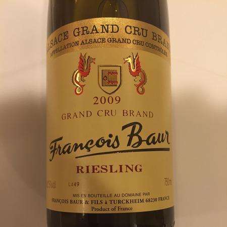 François Baur Brand Alsace Grand Cru Riesling 2009
