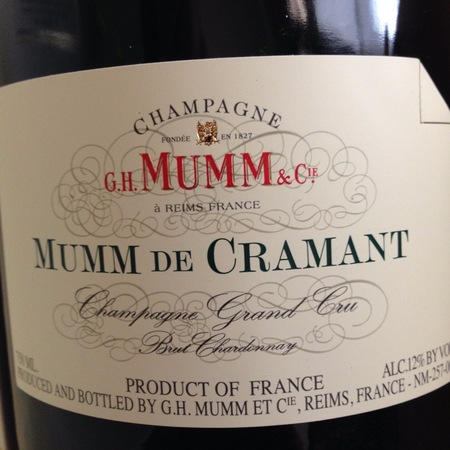 G. H. Mumm & Cie Mumm de Cramant Brut Grand Cru Champagne Chardonnay NV