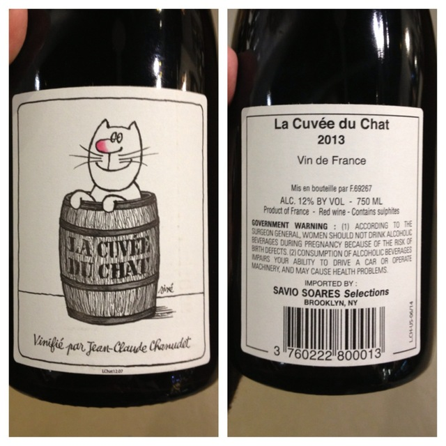 La Cuvée du Chat Beaujolais-Villages Gamay 2013