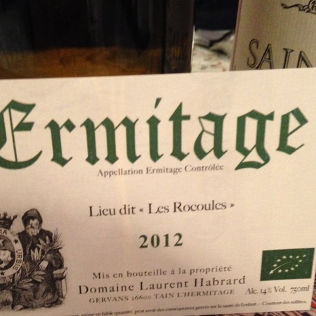 Domaine Habrard (Laurent Habrard) Les Rocoules Ermitage Marsanne 2014