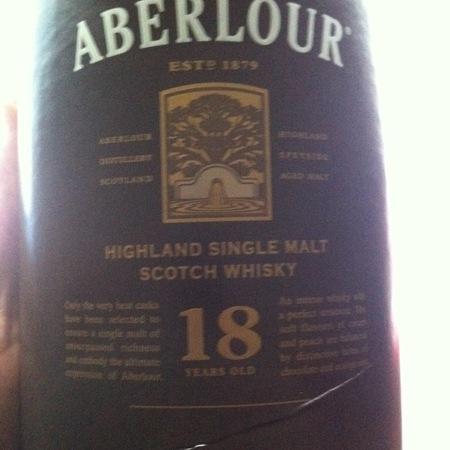 Aberlour 18 year Highland Single Malt Scotch Whisky  NV