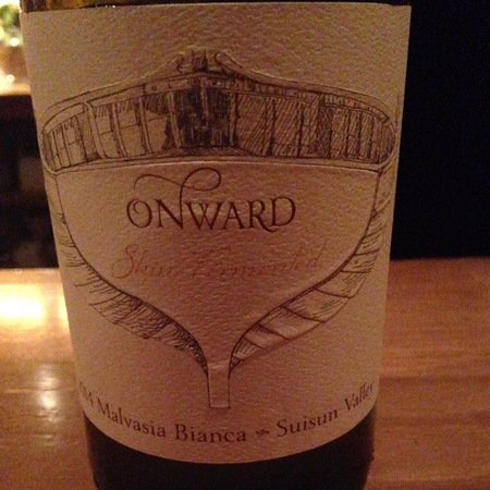 Onward Wines Suisun Valley Malvasia Bianca 2014