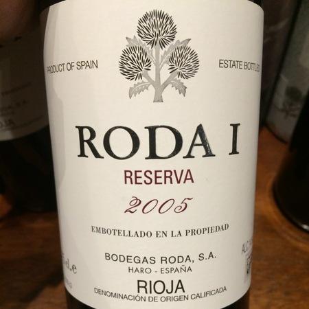 Bodegas Roda Roda I Reserva Rioja Tempranillo 2005