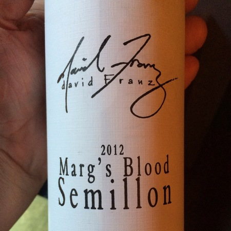 David Franz Marg's Blood Sémillon 2012