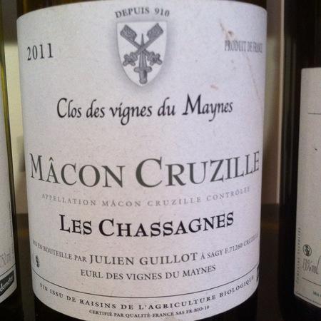Domaine Des Vignes du Maynes (Julien Guillot) Clos des vignes du Maynes Manganite Mâcon-Cruzille Gamay 2015 (1500ml)