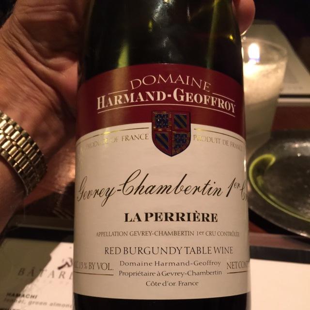 La Perrière Gevrey-Chambertin 1er Cru Pinot Noir 2012