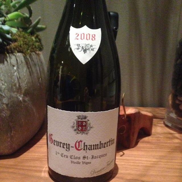 Clos St. Jacques Vieilles Vignes Gevrey-Chambertin 1er Cru Pinot Noir 2008