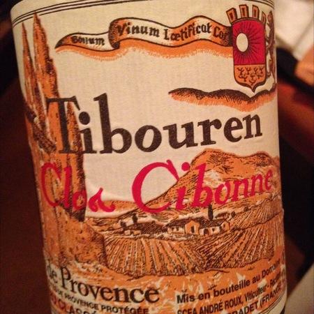 Cibonne Cuvée Spéciale des Vignettes Côtes de Provence Tibouren Rosé 2014
