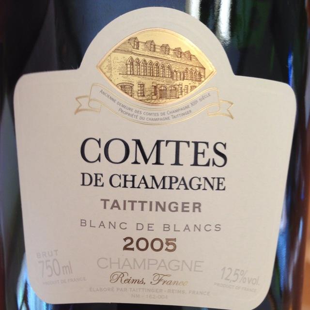 Comtes de Champagne Brut Blanc de Blancs Champagne Chardonnay 2005