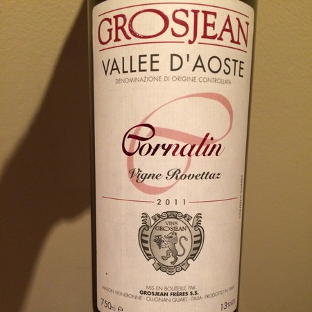 Grosjean Frères Vigne Rovettaz Vallee d'Aoste Cornalin 2013