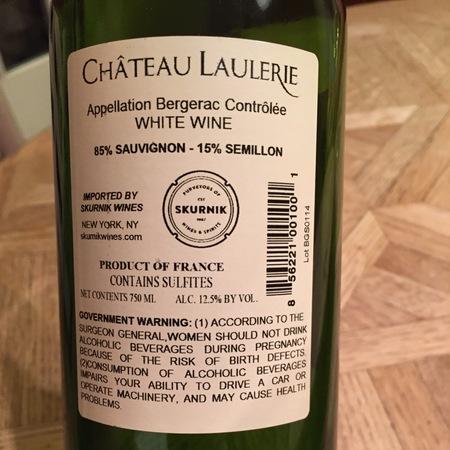 Château Laulerie Bergerac Sauvignon Sémillon 2016