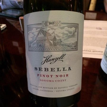 Hanzell Sebella Sonoma Coast Pinot Noir 2013