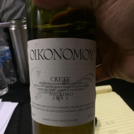 Domaine Economou Oikonomoy Crete Assyrtiko 2012