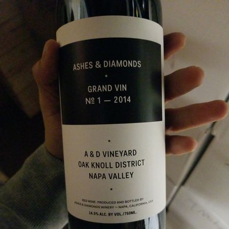 Ashes & Diamonds Winery Grand Vin No 1 A & D Vineyard Red Blend 2014