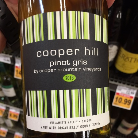 Cooper Mountain Vineyards Cooper Hill Willamette Valley Pinot Gris NV