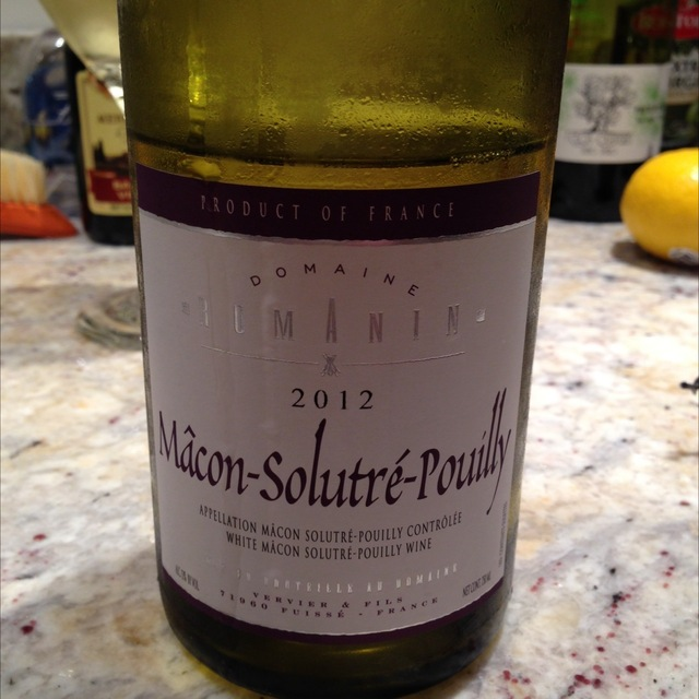Mâcon-Solutré-Pouilly Chardonnay 2012