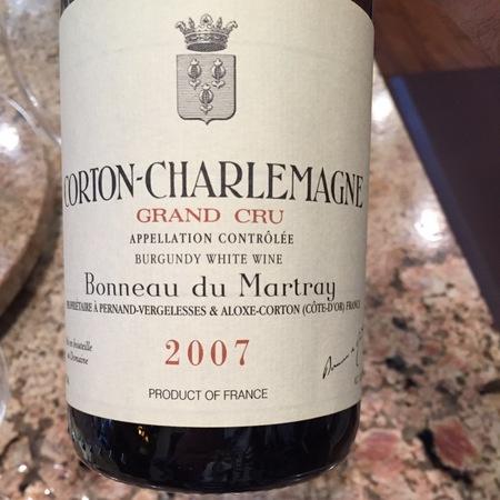 Bonneau du Martray Corton-Charlemagne Grand Cru Chardonnay 2007
